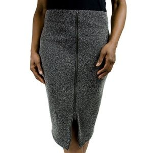 HALOGEN Zip Front Stretch Knit Pencil Skirt 10
